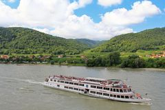River cruise in Austria Royalty Free Stock Photography