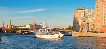 River cruise on the Moscow River stock photo