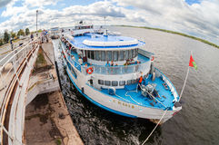 River cruise passenger ship S. Yulaev at the moored Stock Photography