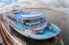River cruise passenger ship S. Yulaev Royalty Free Stock Photo