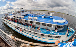River cruise passenger ship Royalty Free Stock Images