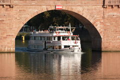 River cruise ship at Heidelberg, Germany Stock Photography