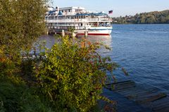 River cruise ship at the pier Stock Photography