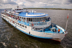 River cruise ship S. Yulaev Royalty Free Stock Photography