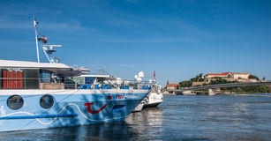 River cruise ship Stock Images