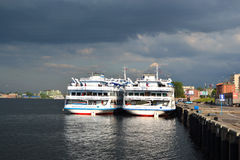 River cruise ships Stock Photography