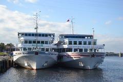 River cruise ships Royalty Free Stock Photos