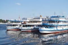 River cruise ships. Royalty Free Stock Photos