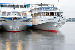 River cruise ships. Royalty Free Stock Images