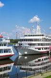 River cruise ships Royalty Free Stock Photography
