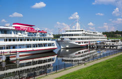 River cruise ships Stock Photos