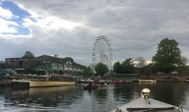 The river cruise at Stratford upon Avon. From the river 2017 Stock Images
