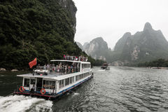 River Cruise in Yangshuo County, China Stock Photos