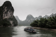 River Cruise in Yangshuo County, China Royalty Free Stock Image