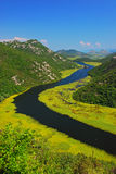 The River Curve at Lake Skadar nearby Rijeka Crnojevića Stock Photography