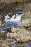 River Dūkšta flows in the Neris Regional Park in Lithuania. A stony stream of Dūkšta flows in the Neris Regional Park between the Buivydai and stock images
