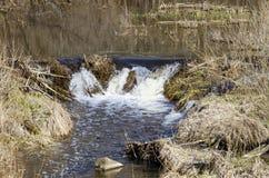 River Dūkšta flows in the Neris Regional Park in Lithuania. A stony stream of Dūkšta flows in the Neris Regional Park between the Buivydai and stock photos
