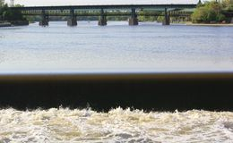 River dam Royalty Free Stock Photo