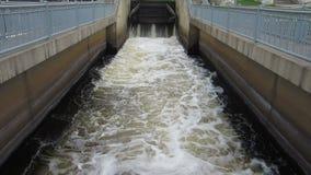River Dam Spillway stock footage