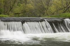 River Dam In Spring Stock Photo