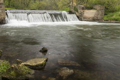 River Dam In Spring Royalty Free Stock Photography