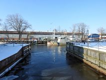 Klaipeda town in winter, Lithuania Royalty Free Stock Photography