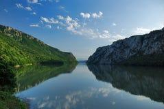 River Danube. Gorge in Serbia royalty free stock image