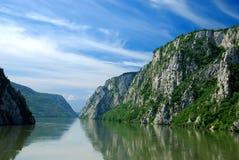 River Danube. Gorge in Serbia stock photos