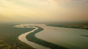 River Danube view stock footage
