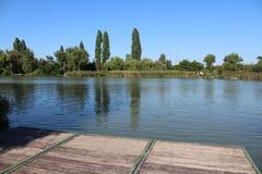 River Danube. Near city of Csepel, Hungary stock images