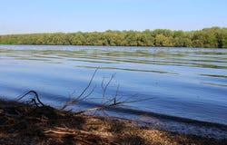 Beautiful River Danube. River Danube near city of Csepel, Hungary stock photos