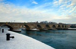 River Danube in Winter Stock Image