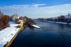 River Danube in Winter Stock Photography