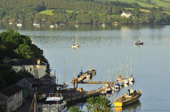 River Dart boatyard, Devon Stock Images