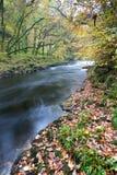 River Dart at Holne Bridge, Dartmoor England. Royalty Free Stock Photography