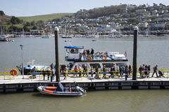 River Dart passenger ferry Dartmouth Devon England UK Stock Photo