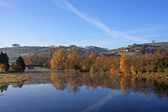 River Dart, Totnes. In autumn Royalty Free Stock Images