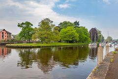 River Dart at Totnes Devon. The River Dart at Totnes Devon England UK Europe Royalty Free Stock Photos