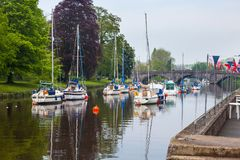 River Dart at Totnes Devon. The River Dart at Totnes Devon England UK Europe Royalty Free Stock Images