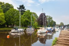 River Dart at Totnes Devon. The River Dart at Totnes Devon England UK Europe Stock Images
