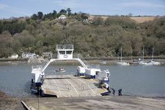 River Dart vehicle ferry Devon England UK Stock Image
