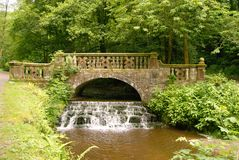 River Darwen bridge Royalty Free Stock Image