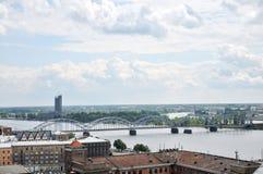River Daugava, Riga,  Latvia Stock Photo