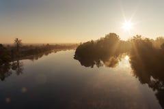 River at dawn Stock Image
