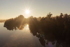 River at dawn Royalty Free Stock Photography