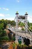 River Dee Suspension Bridge, Chester. Stock Photo
