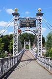 River Dee Suspension Bridge, Chester. Stock Image