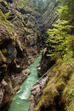 River in a deep canyon Stock Photography