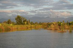 River delta of Madagascar Stock Image