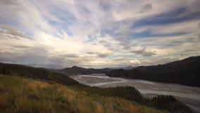 River Delta Wrangell St Elias Alaska stock footage